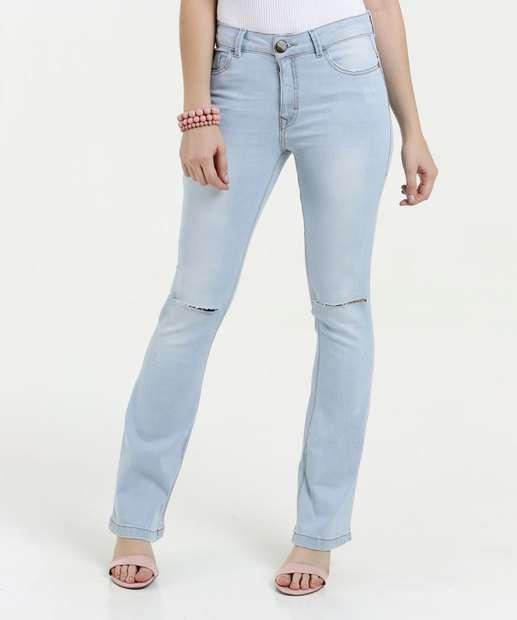 Image_Calça Feminina Jeans Flare Rasgos Five