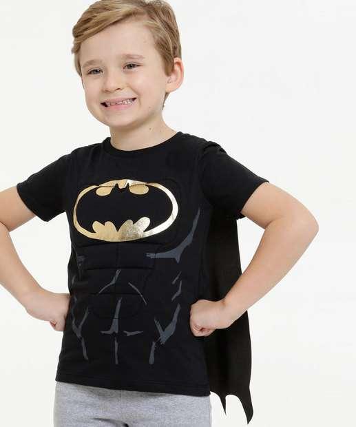 Image_Camiseta Infantil Músculos Batman Capa Liga da Justiça Tam 4 a 10