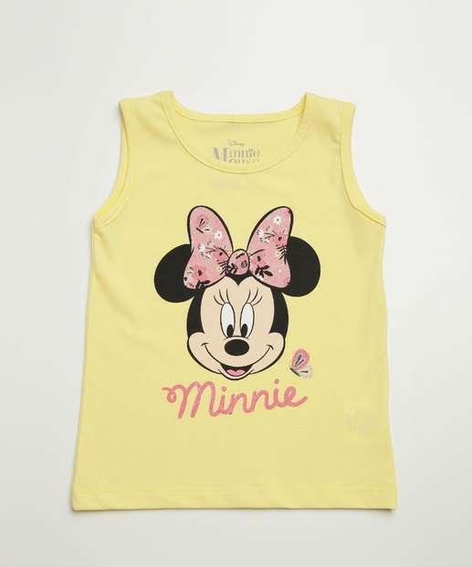 Image_Blusa Infantil Sem Manga Minnie Disney Tam 1 a 4