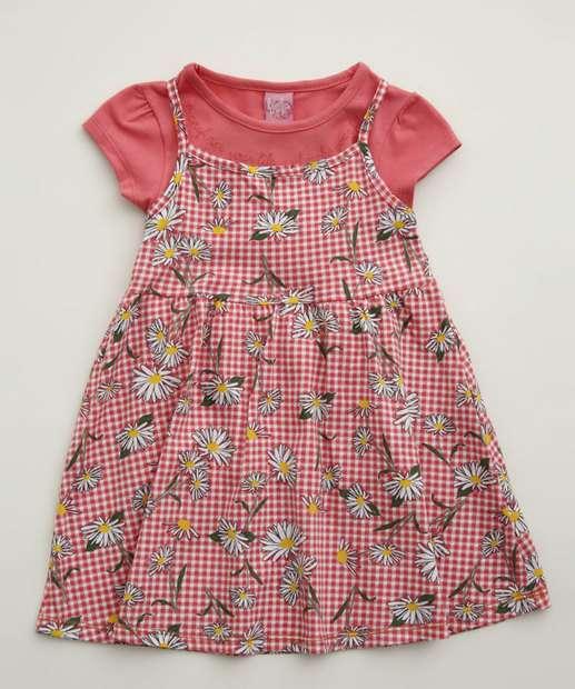 Image_Conjunto Infantil Vestido Estampa Floral