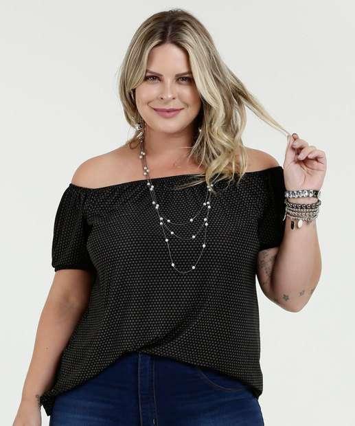 Image_Blusa Feminina Estampada Ombro a Ombro Plus Size Luktal