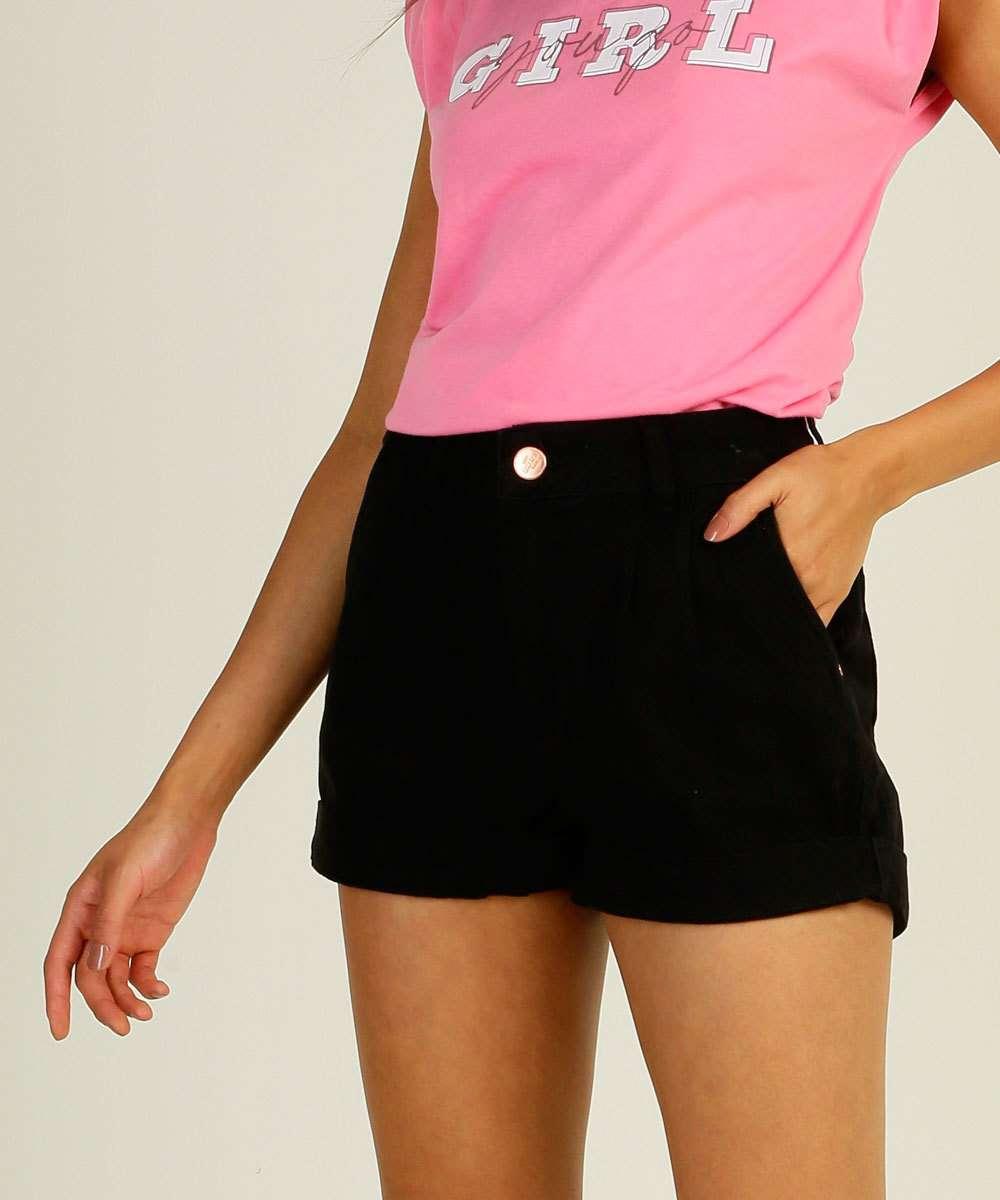 Short Feminino Barra Dobrada Zune Jeans