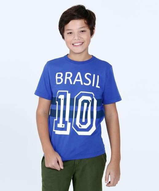 Image_Camiseta  Juvenil Brasil 10 Manga Curta Marisa
