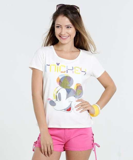 Image_Blusa FemininaManga Curta Mickey Disney