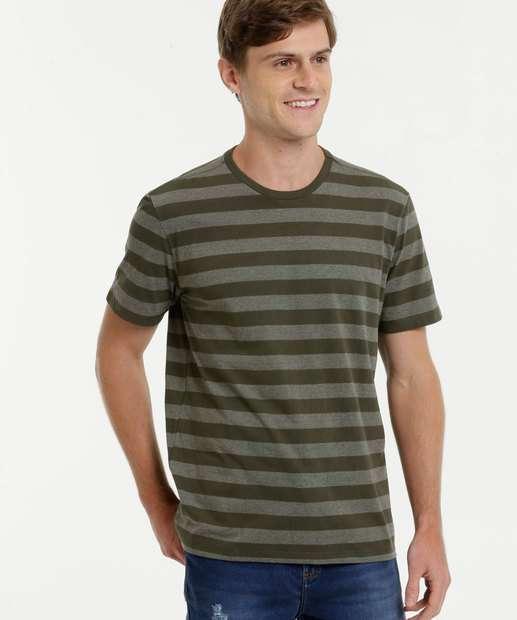 Image_Camiseta Masculina Listrada Manga Curta MR