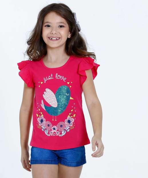 Image_Blusa Infantil Estampa Pássaro Glitter Marisa
