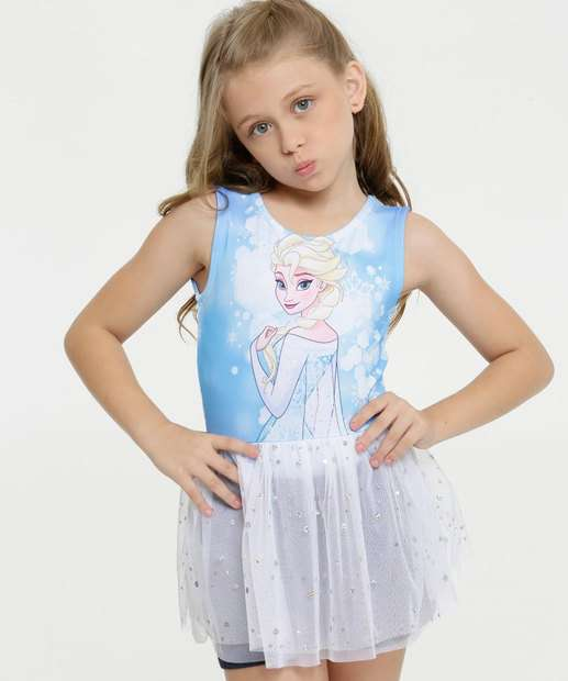 Image_Body Infantil Estampa Frozen Fantasia Tule Disney