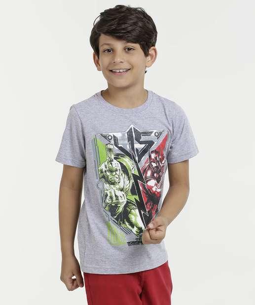 Image_Camiseta Infantil Estampa Hulk e Thor Manga Curta Marvel