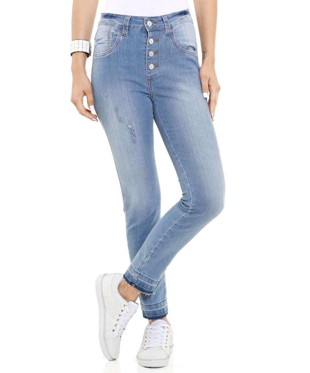 77872a19d Calça feminina Skinny Jeans Cintura Alta Marisa | Marisa