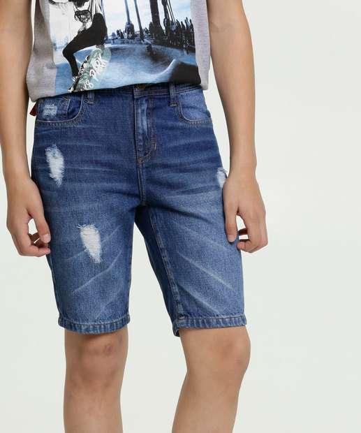 Image_Bermuda Juvenil Jeans Bolsos Puídos MR