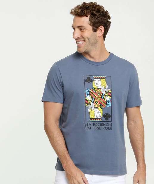Image_Camiseta Masculina Estampa Baralho Manga Curta MR