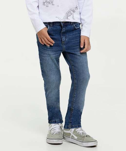 Image_Calça Infantil Jeans Puídos MR