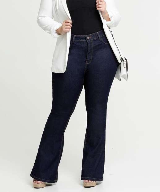 Image_Calça Jeans Flare Feminina Plus Size Razon