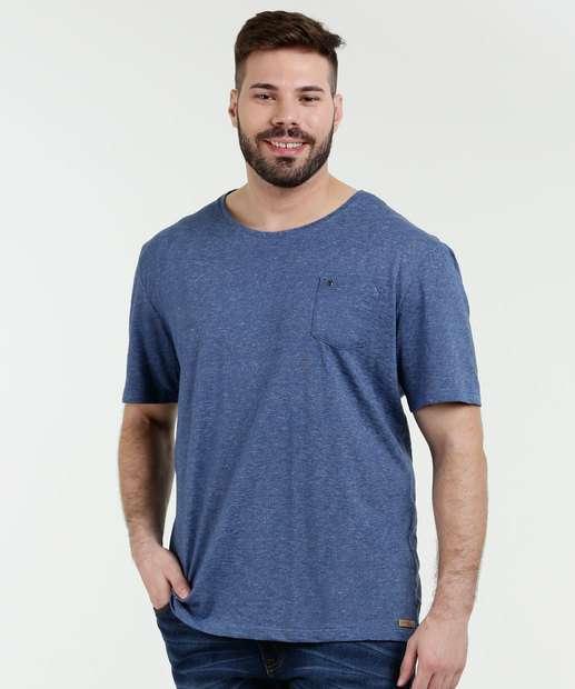 Image_Camiseta Masculina Plus Size Manga Curta Khomar