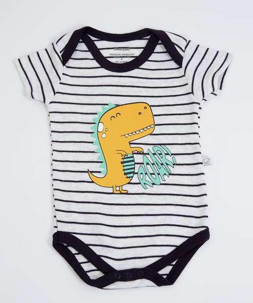 Image_Body Infantil Bebê Listrado Dinossauro Pimpolho