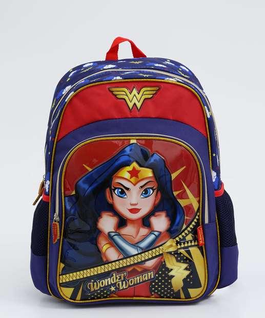 Image_Mochila Infantil Escolar Mulher Maravilha Liga da Justiça