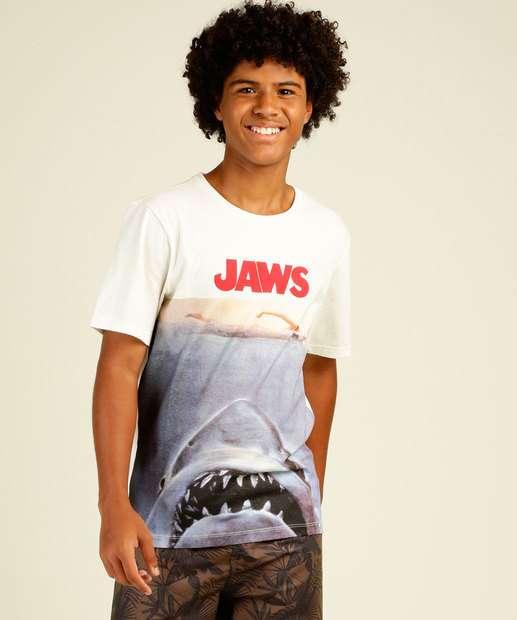 Image_Camiseta Juvenil Manga Curta Tubarão MR Tam 10 a 16