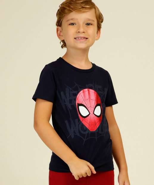 Image_Camiseta Infantil Homem Aranha Manga Curta Marvel Tam 4 a 10