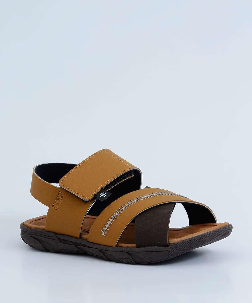 Sandália Infantil Tiras Transpassadas Velcro Molekinho