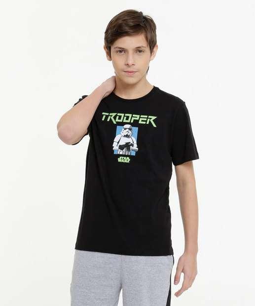 Image_Camiseta Juvenil Star Wars Disney Tam 10 a 16