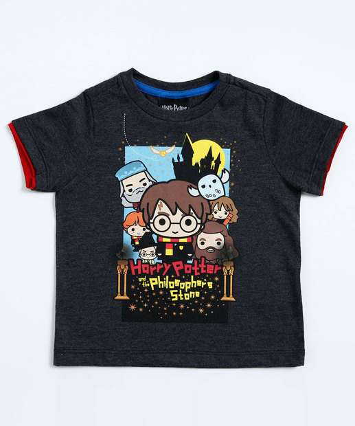 Image_Camiseta Infantil Harry Potter Manga Curta Warner Bros