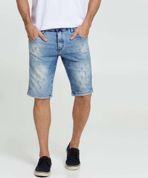 Image_Bermuda Masculina Jeans Stretch Puídos Rock & Soda