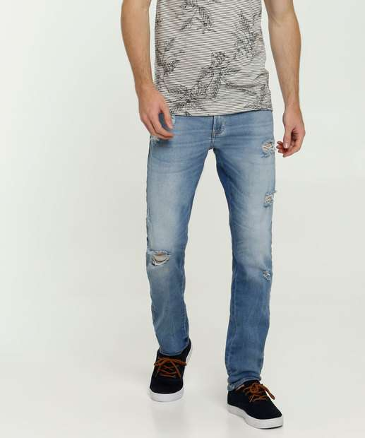 Image_Calça Masculina Jeans Destroyed Skinny MR