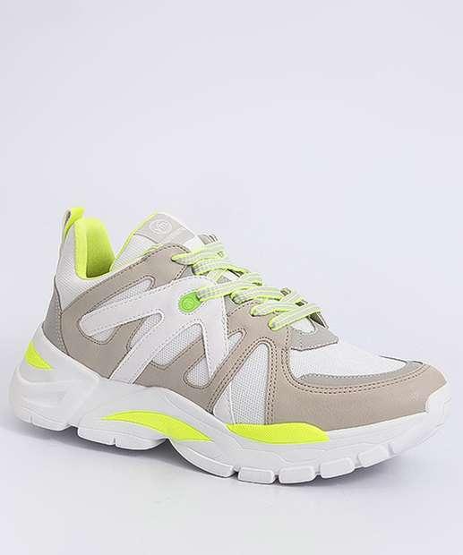 Image_Tênis Feminino Sneaker Recorte Neon Via Marte
