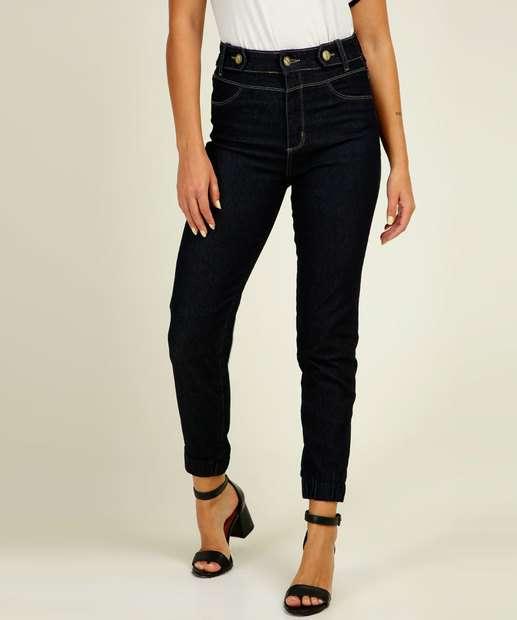 Image_Calça Jeans Jogger Feminina Cintura Alta Sawary