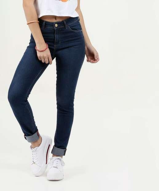 Image_Calça Feminina Skinny Stretch Barra Dobrada Five Jeans