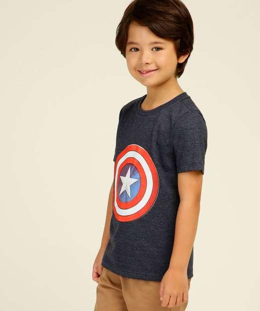 Image_Camiseta Infantil Capitão América Marvel Tam 4 a 10