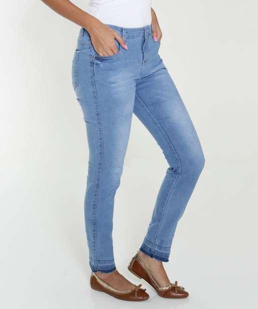 Image_Calça Juvenil Jeans Barra Desfiada Marisa