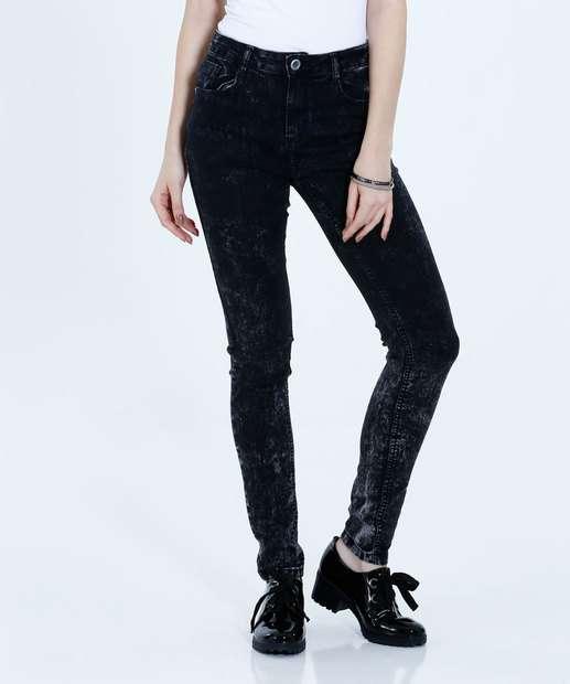 Image_Calça Feminina Skinny Jeans Marmorizado Marisa