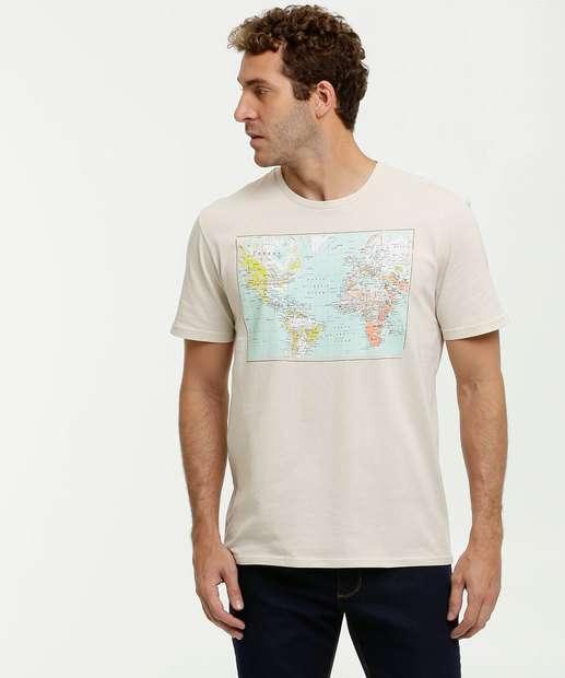 Image_Camiseta Masculina Estampa Mapa Manga Curta MR