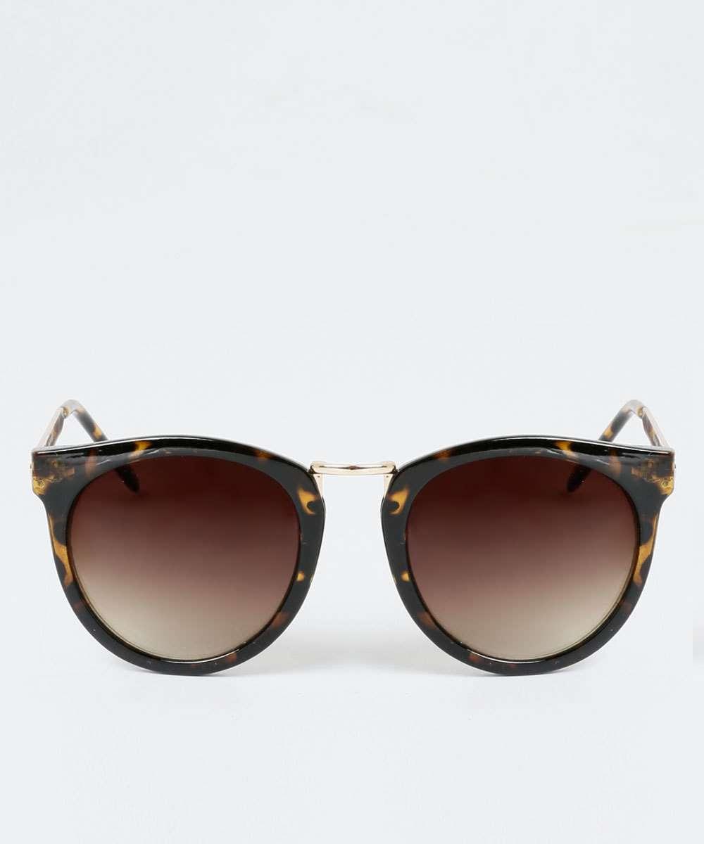 078859eed Óculos de Sol Feminino Estampa Animal Print Redondo Marisa | Marisa