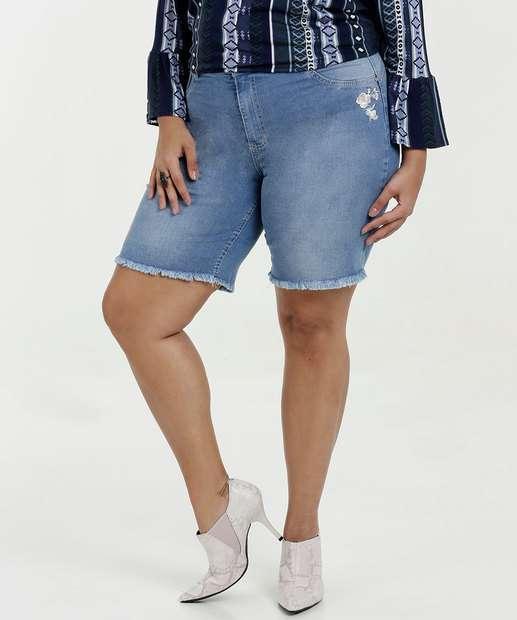 Image_Bermuda Feminina Jeans Bordado Plus Size Biotipo