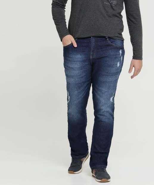 Image_Calça Masculina Jeans Puídos Plus Size Biotipo