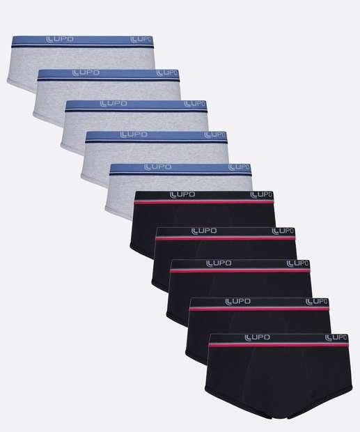 Image_Kit 10 Cuecas Masculina Slip Plus Size Lupo