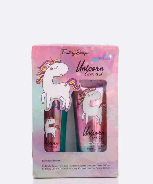 Image_Kit Feminino Body Splash e Loção Corporal Unicorn Tears Delikad 200ml
