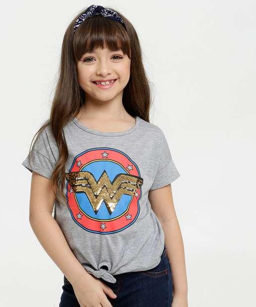 Image_Blusa Infantil Estampa Mulher Maravilha Paetês Liga Da Justiça