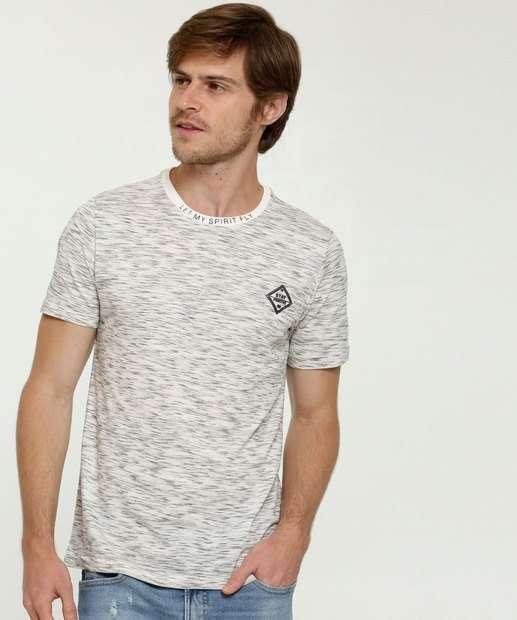 Image_Camiseta Masculina Mescla Manga Curta