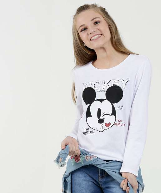 Image_Blusa Juvenil Estampa Mickey Manga Longa Disney