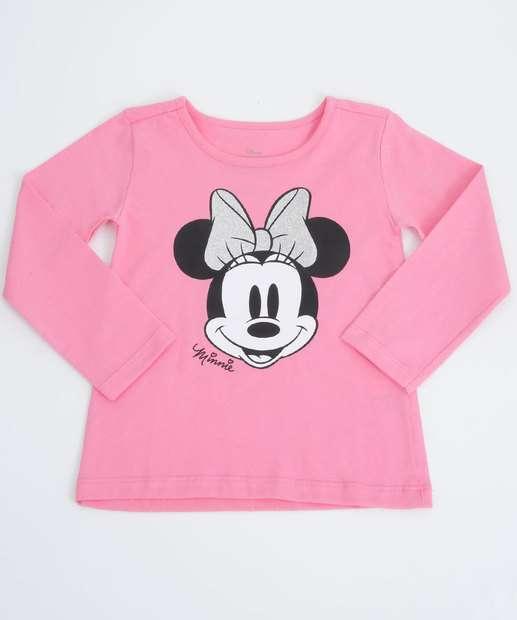 Image_Blusa Infantil Estampa Minnie Manga Longa Disney Tam 1 a 3