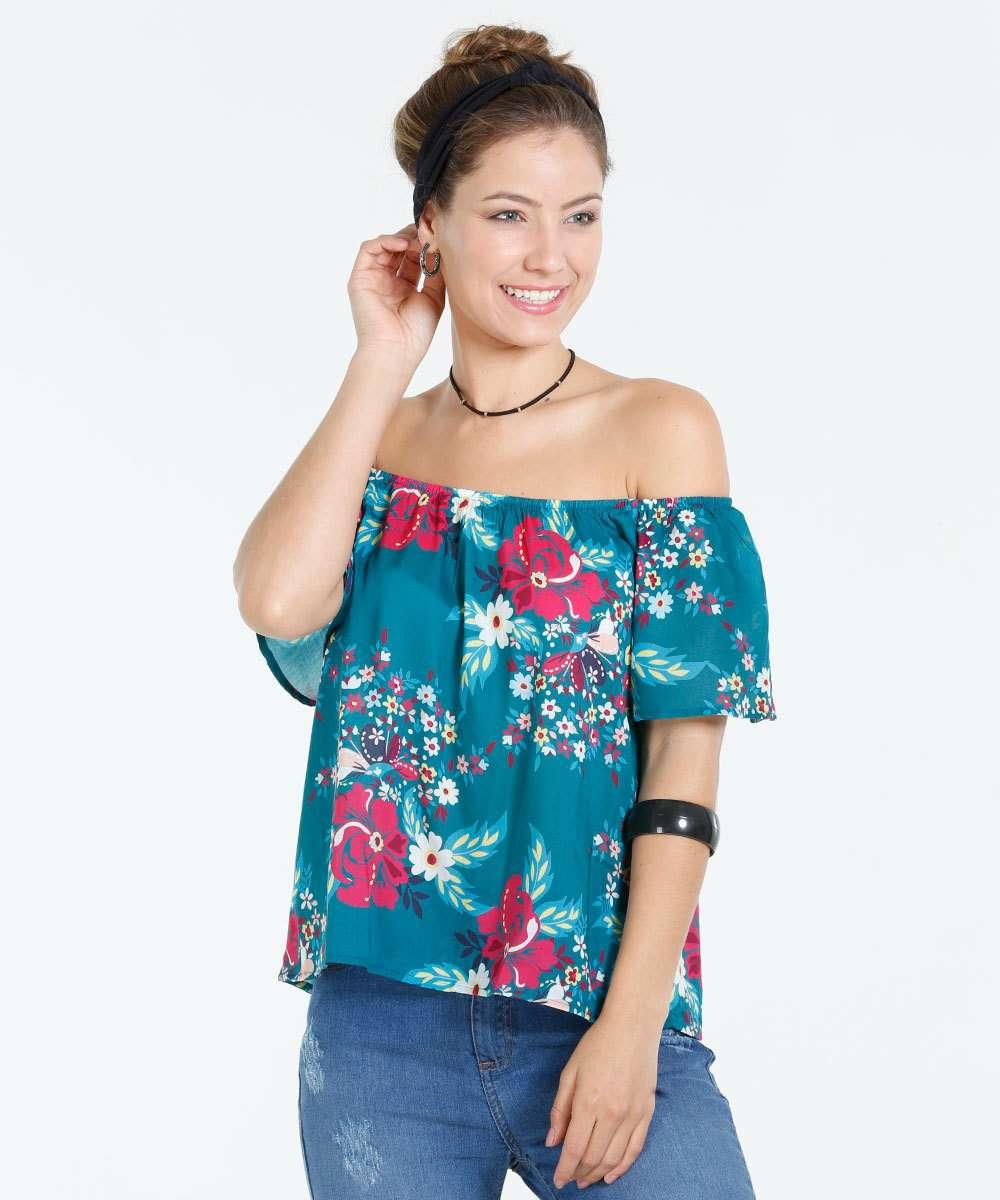Image_Blusa Feminina Ombro a Ombro Floral Marisa