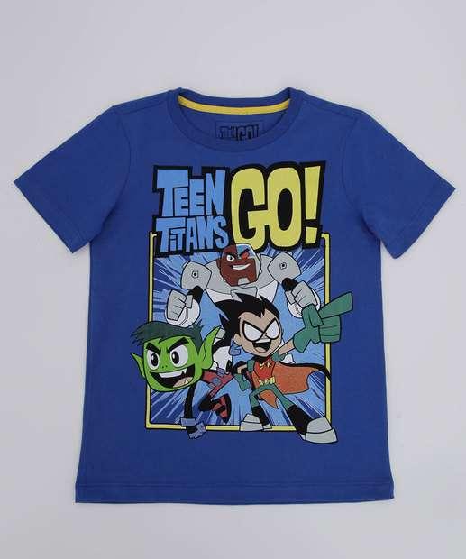 Image_Camiseta Infantil Jovens Titãs Manga Curta Warner Bros