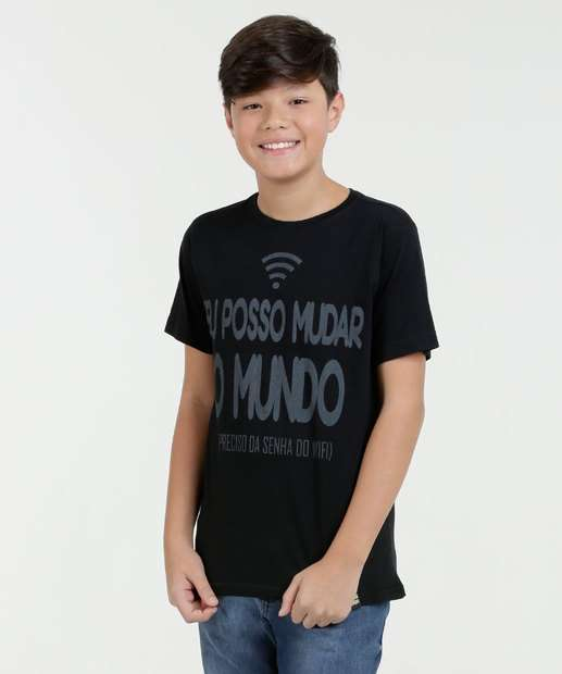 Image_Camiseta Juvenil Estampa Frontal Manga Curta Eagle Brazil