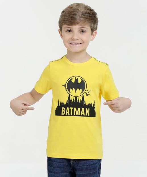 Image_Camiseta Infantil Estampa Batman Manga Curta Liga da Justiça
