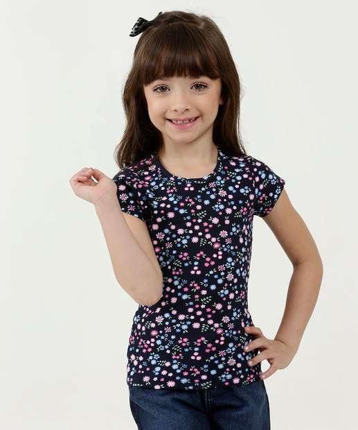 Image_Blusa Infantil Estampa Floral Manga Curta