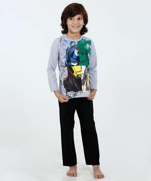 Image_Pijama Infantil Estampa Super Heróis Marvel