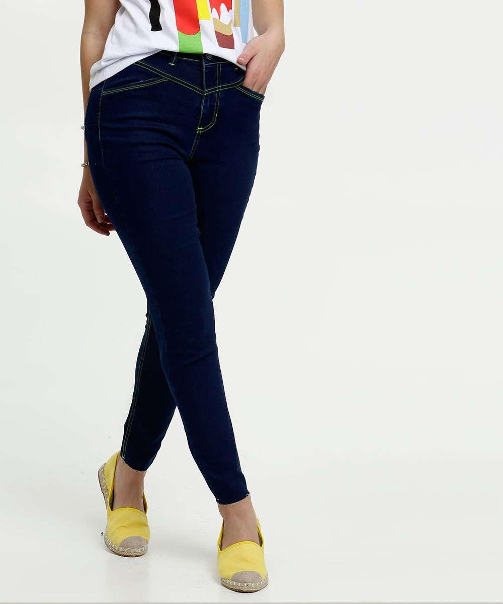 Calça Jeans Skinny Neon Feminina Marisa